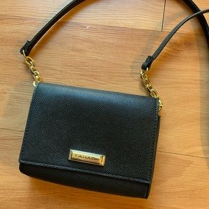 NWOT Tahari Black Crossbody Bag